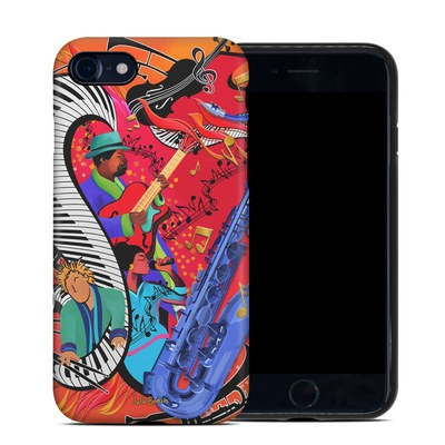 Apple iPhone 7 Hybrid Case - Red Hot Jazz