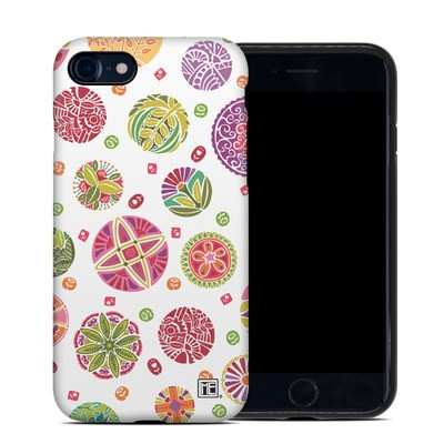 Apple iPhone 7 Hybrid Case - Round Flowers