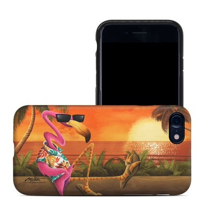 Apple iPhone 7 Hybrid Case - Sunset Flamingo
