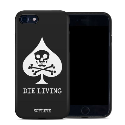 Apple iPhone 7 Hybrid Case - SOFLETE Die Living Black