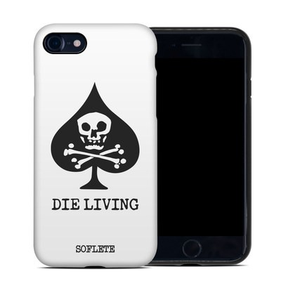 Apple iPhone 7 Hybrid Case - SOFLETE Die Living White