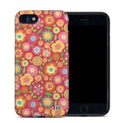 Apple iPhone 7 Hybrid Case - Flowers Squished