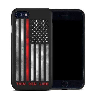 Apple iPhone 7 Hybrid Case - Thin Red Line