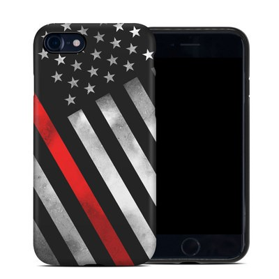 Apple iPhone 7 Hybrid Case - Thin Red Line Hero