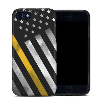 Apple iPhone 7 Hybrid Case - Thin Yellow Line Hero
