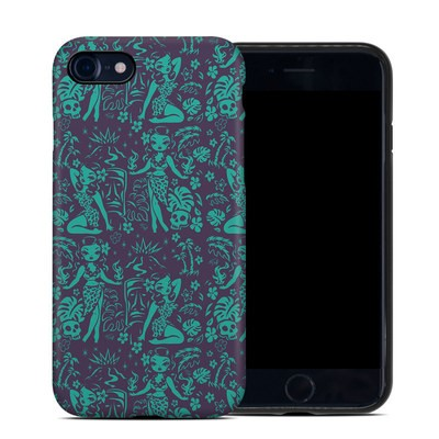 Apple iPhone 7 Hybrid Case - Tiki Temptress Teal