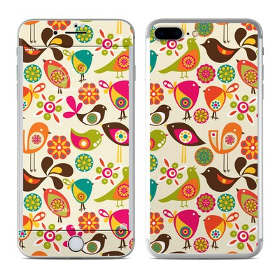 Apple iPhone 7 Plus Skin - Bird Flowers