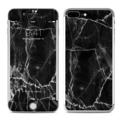 Apple iPhone 7 Plus Skin - Black Marble