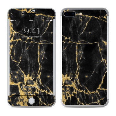 Apple iPhone 7 Plus Skin - Black Gold Marble
