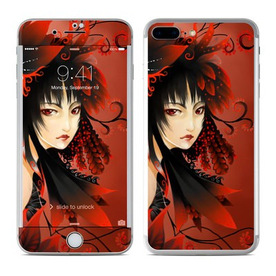 Apple iPhone 7 Plus Skin - Black Flower