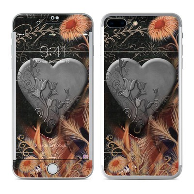 Apple iPhone 7 Plus Skin - Black Lace Flower