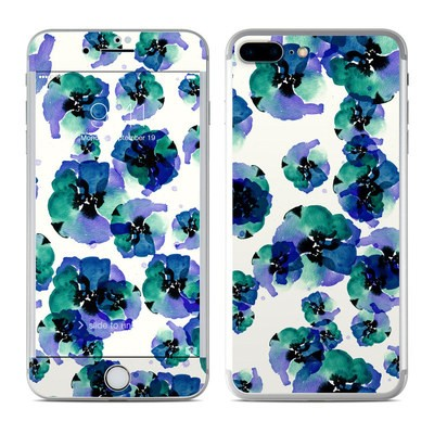 Apple iPhone 7 Plus Skin - Blue Eye Flowers