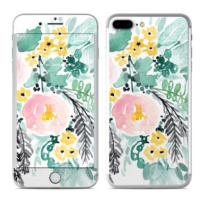 Apple iPhone 7 Plus Skin - Blushed Flowers