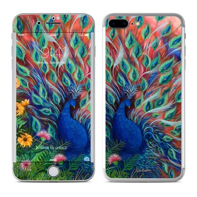 Apple iPhone 7 Plus Skin - Coral Peacock