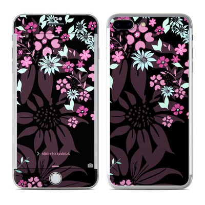 Apple iPhone 7 Plus Skin - Dark Flowers