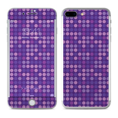 Apple iPhone 7 Plus Skin - Dots Purple