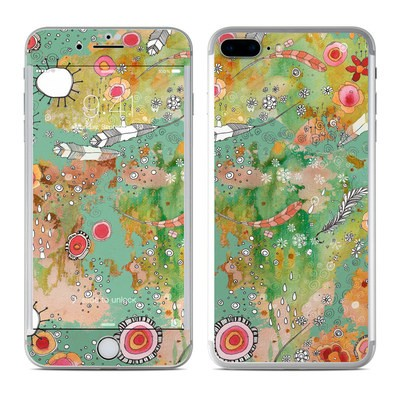 Apple iPhone 7 Plus Skin - Feathers Flowers Showers