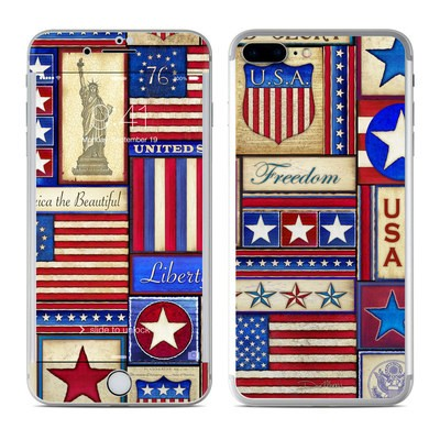 Apple iPhone 7 Plus Skin - Flag Patchwork