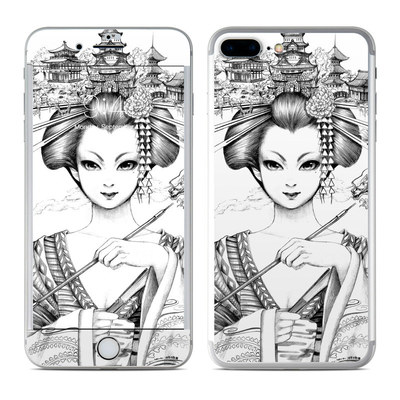 Apple iPhone 7 Plus Skin - Geisha Sketch