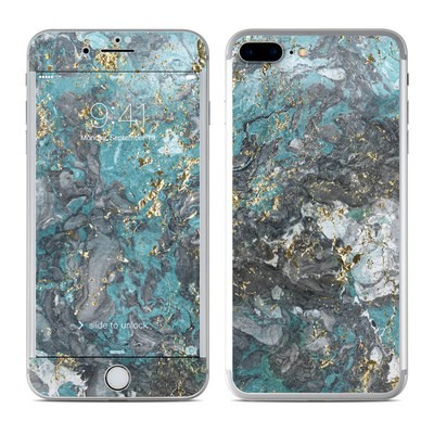 Apple iPhone 7 Plus Skin - Gilded Glacier Marble