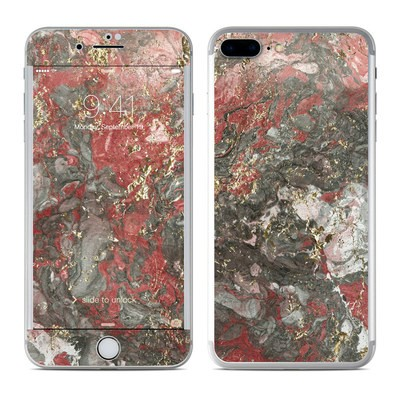 Apple iPhone 7 Plus Skin - Gilded Magma Marble
