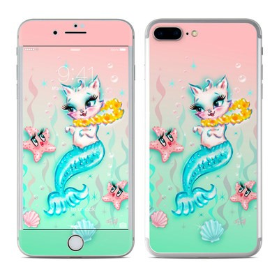 Apple iPhone 7 Plus Skin - Merkitten with Lei