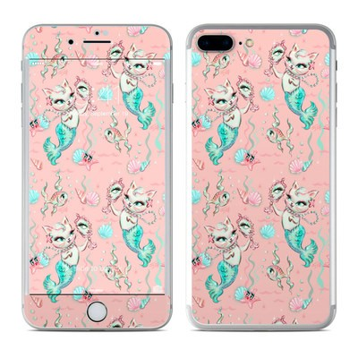 Apple iPhone 7 Plus Skin - Merkittens with Pearls Blush