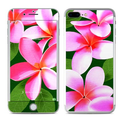 Apple iPhone 7 Plus Skin - Pink Plumerias