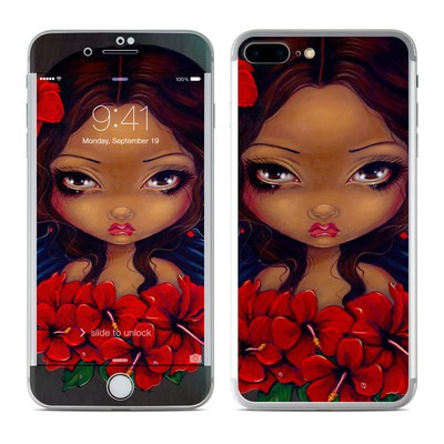 Apple iPhone 7 Plus Skin - Red Hibiscus Fairy