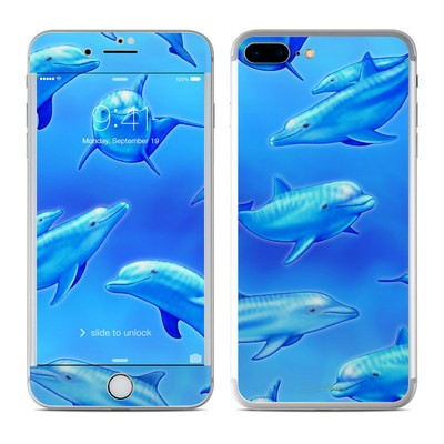 Apple iPhone 7 Plus Skin - Swimming Dolphins