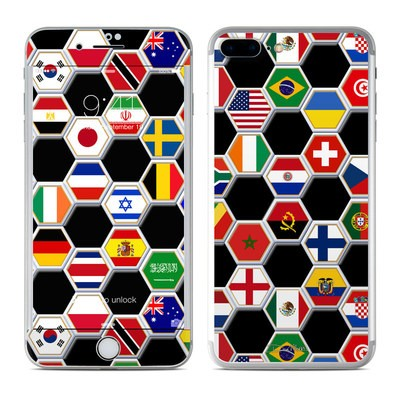 Apple iPhone 7 Plus Skin - Soccer Flags