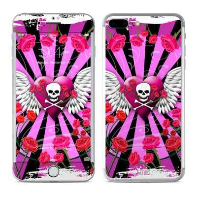 Apple iPhone 7 Plus Skin - Skull & Roses Pink