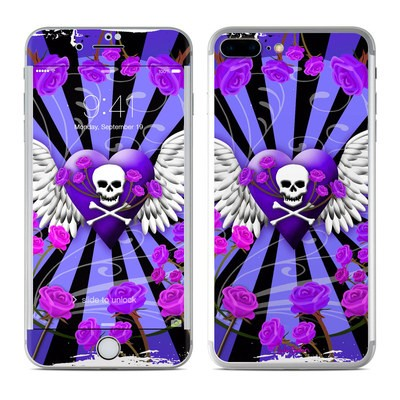 Apple iPhone 7 Plus Skin - Skull & Roses Purple