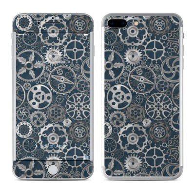 Apple iPhone 7 Plus Skin - Silver Gears