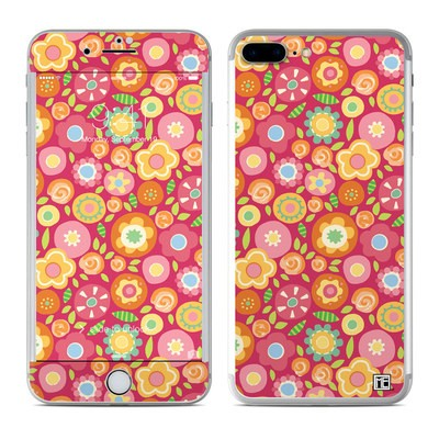 Apple iPhone 7 Plus Skin - Flowers Squished