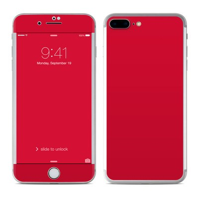 Apple iPhone 7 Plus Skin - Solid State Red