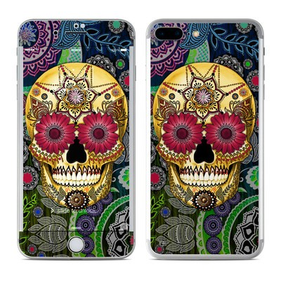 Apple iPhone 7 Plus Skin - Sugar Skull Paisley
