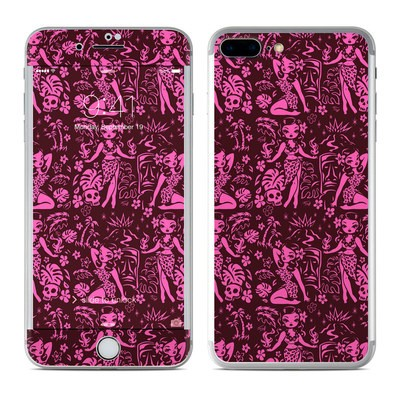 Apple iPhone 7 Plus Skin - Tiki Temptress Hotpink