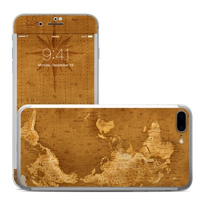 Apple iPhone 7 Plus Skin - Upside Down Map