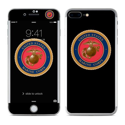 Apple iPhone 7 Plus Skin - USMC Black