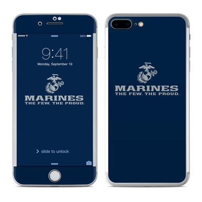 Apple iPhone 7 Plus Skin - USMC Blue