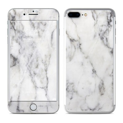 Apple iPhone 7 Plus Skin - White Marble