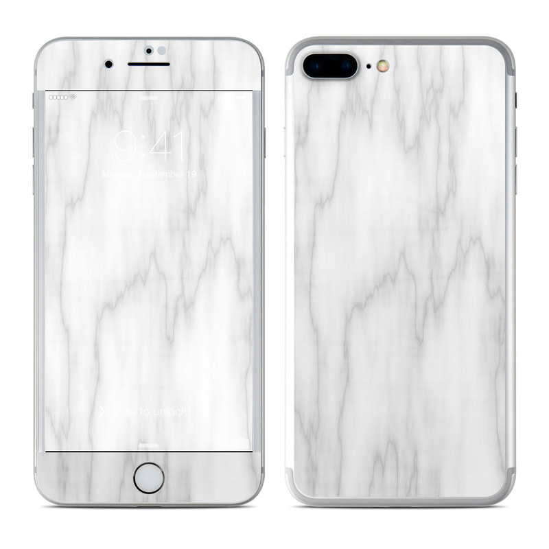 56e0aef00de Apple iPhone 7 Plus Skin - Bianco Marble by Marble Collection ...