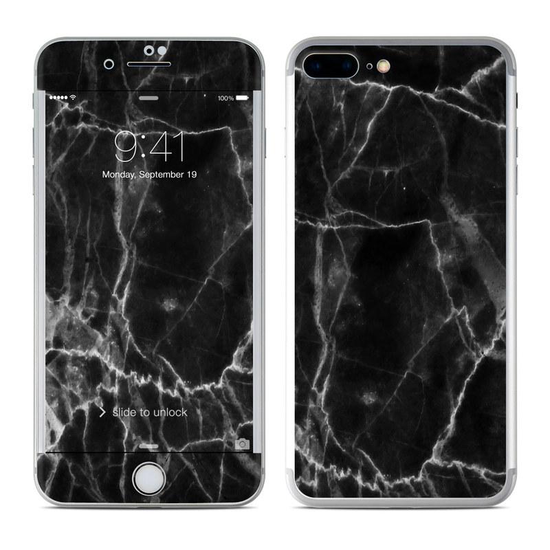 Iphone 7 Plus Skin Black Marble Sticker Decal Ebay