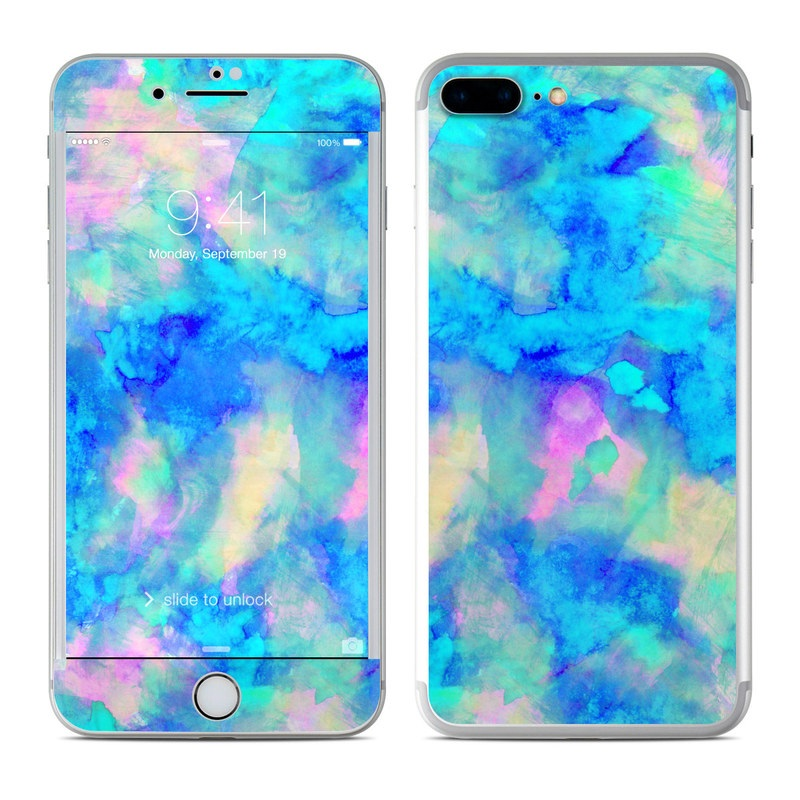 Apple iphone 7 plus skin electrify ice blue