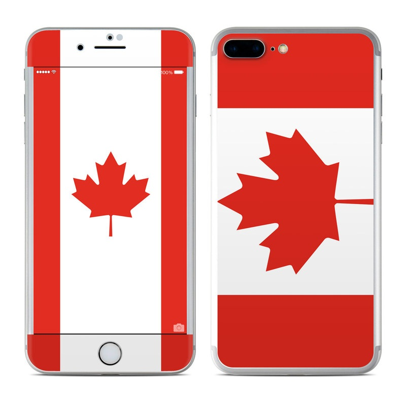 6fc894c2ca2 Apple iPhone 7 Plus Skin - Canadian Flag by Flags | DecalGirl