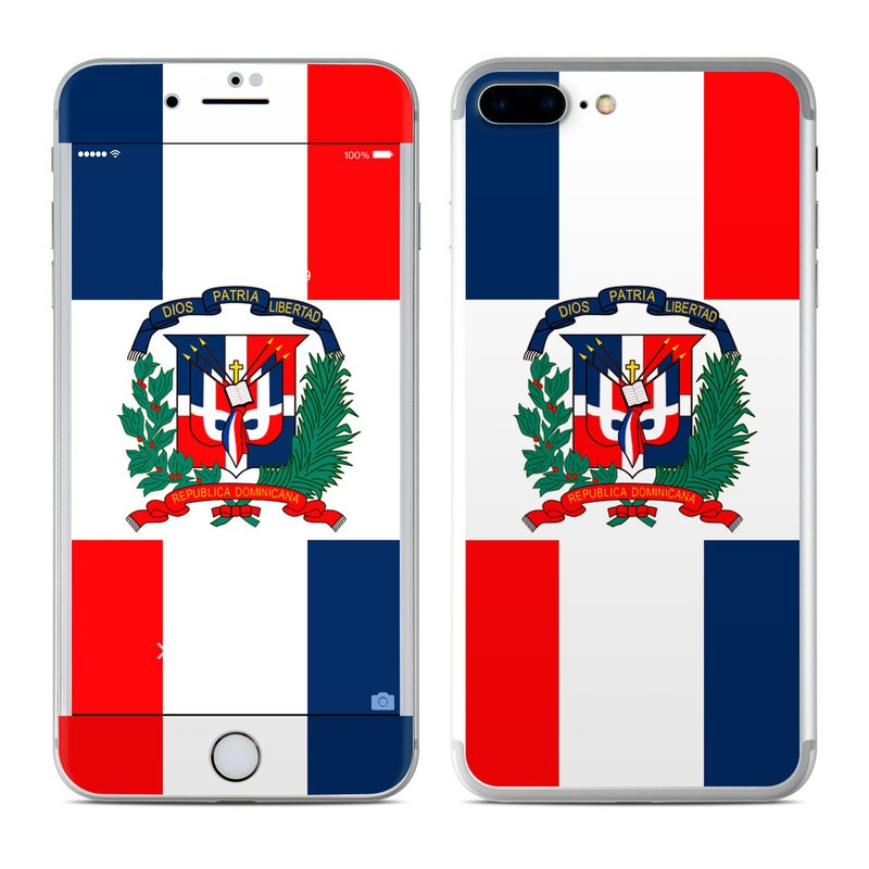apple iphone 7 plus skin - dominican republic flagflags