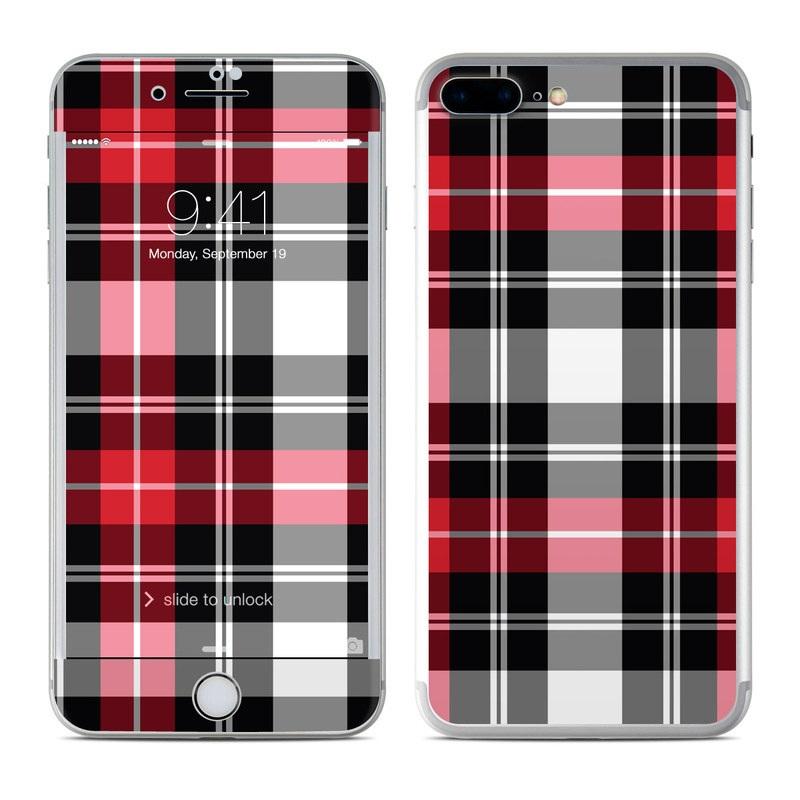 Apple iPhone 7 Plus Skin - Red Plaid  a4fa399473e6