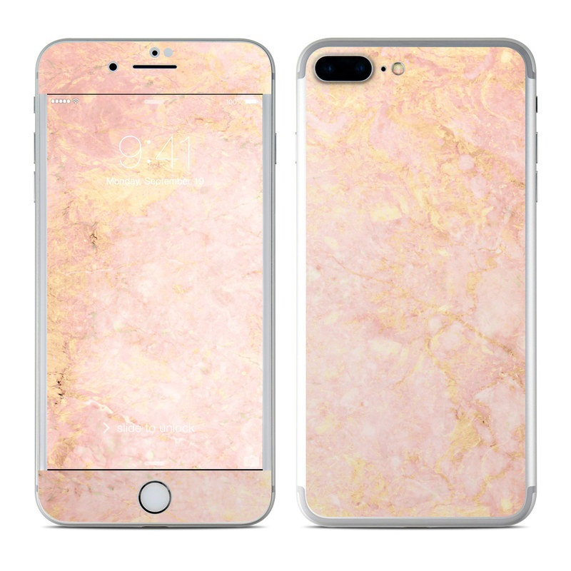 apple iphone 7 plus skin rose gold marble by marble. Black Bedroom Furniture Sets. Home Design Ideas