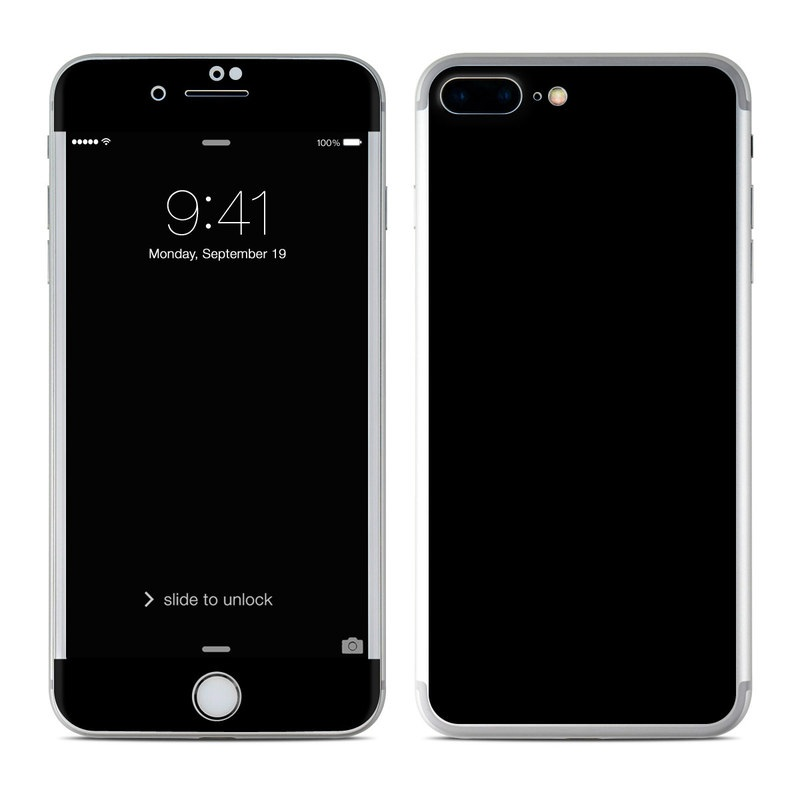 Iphone 7 plus skin solid black sticker decal